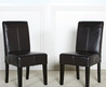 Isabella Dark Brown Patent Leather Children's Dining Chair (Set Of 2)