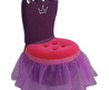 Princess Plush Kids' Crown Chair
