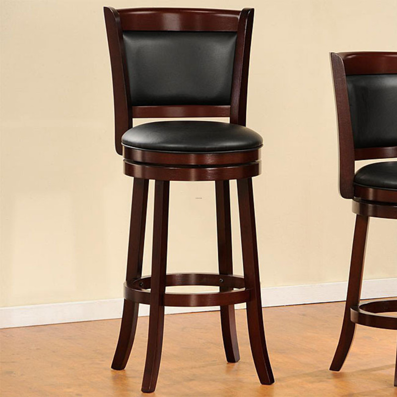 Verona Cherry Padded Back Swivel 29 Inches Pub Chair  : cheap bar stools from davinong.com size 800 x 800 jpeg 117kB