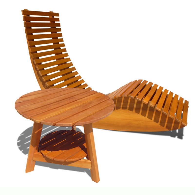 Casimir Wooden Outdoor Rocker Chair And Side Table / design bookmark ...