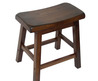 Saddle Seat 18 Inch Walnut Barstools (Set Of 2)
