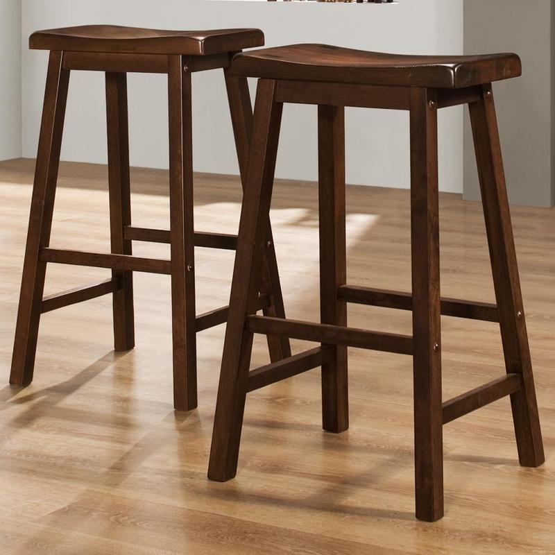Salvador Saddle Back 29 Inch Cherry Stools Set Of 2 Design Bookmark 8037