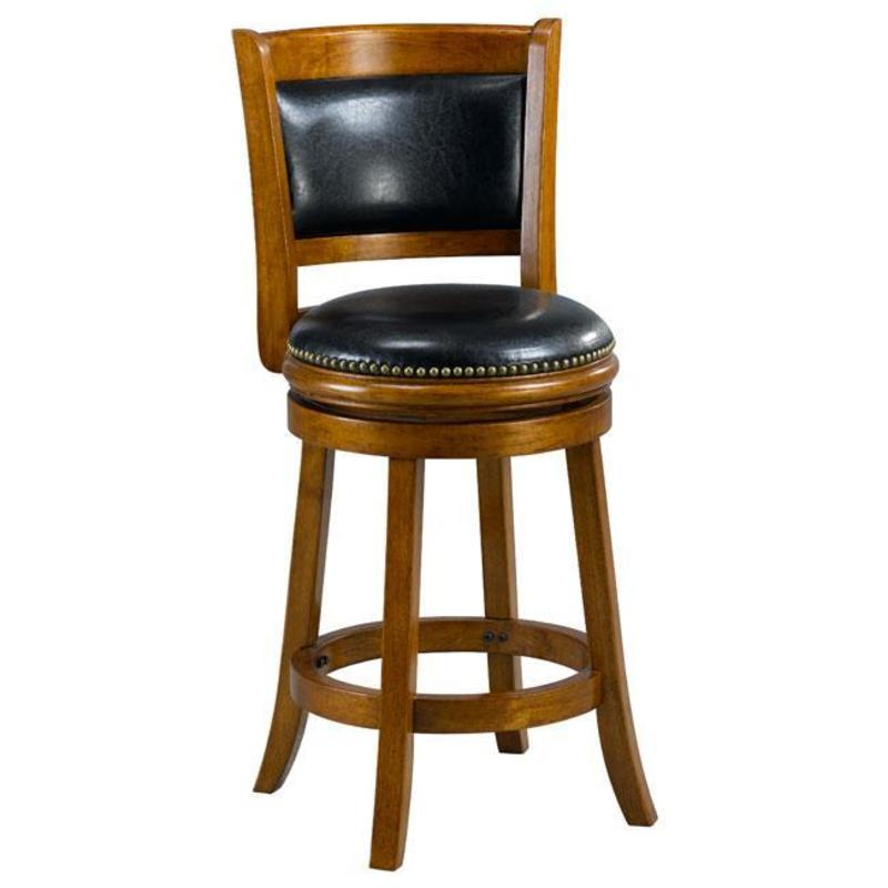 Alexis Dark Oak Padded Back 24 Inch Counter Stool Design