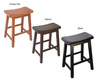 Saddle Seat 24 Inch Counter Stools (Set Of 2)