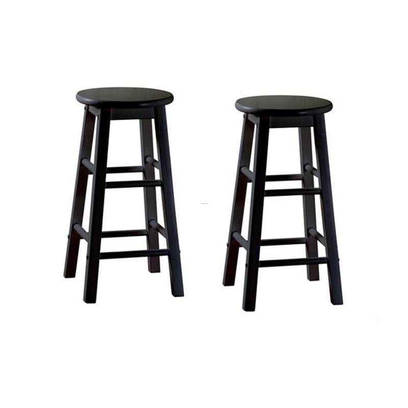 Abott Black 24 Inch Counter Height Stools Set Of 2