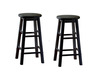 Abott Black 24 Inch Counter Height Stools (Set Of 2)