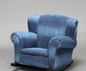 Child's Blue Denim Rocking Chair