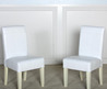 Isabella White Patent Leather Dining Chair (Set Of 2)
