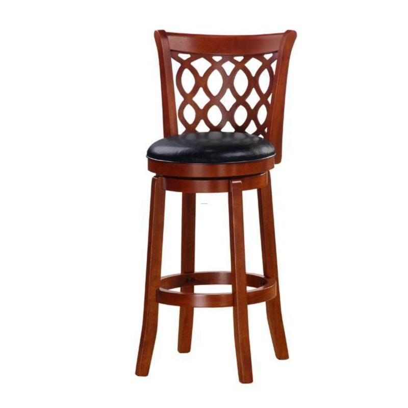 Allison Oak Finish 30 Inch Swivel Barstool Design Bookmark 8062