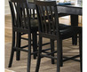 Black Wood Slat Back Counter Stools (Set Of 2)