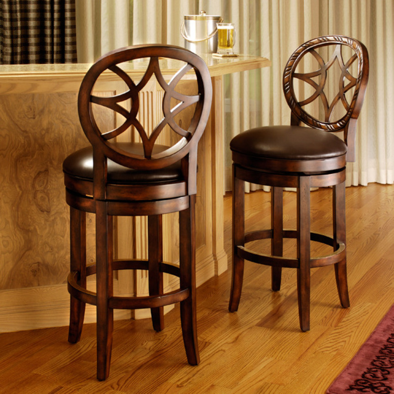 Starback Brown Leather Barstool Design Bookmark 8089