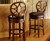 Starback Brown Leather Barstool
