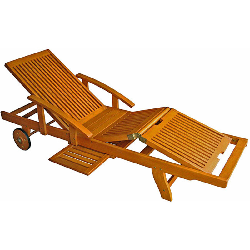 Royal tahiti yellow balau wood large chaise lounge for Chaise longue plans