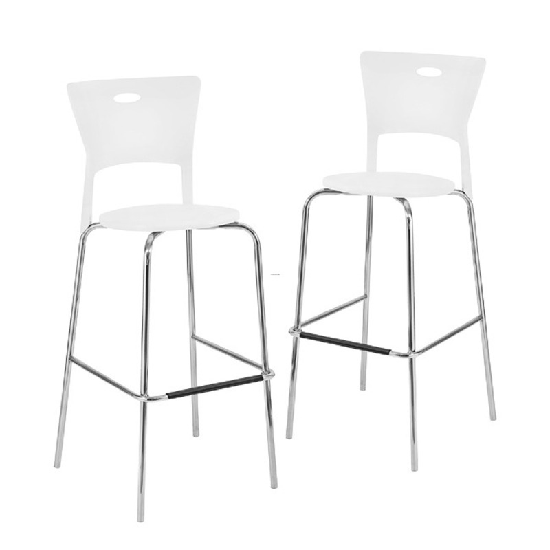 white stackable modern barstools pack of 2 design