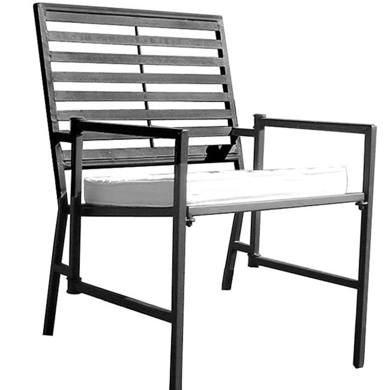 Folding slatted black iron garden chair design bookmark for Black wrought iron chaise lounge