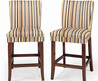 Parson Striped Upholstered Pub Stool (Set Of 2)