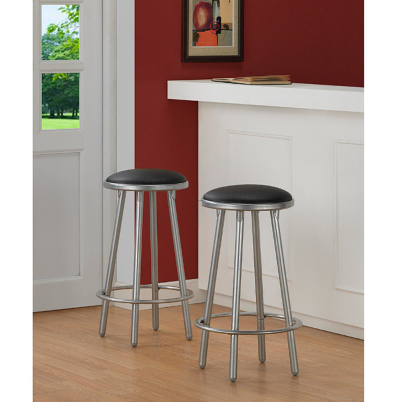 Modern Metal Counter Stools Set Of 2 Design Bookmark 8110