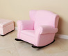 Child's Pink Fabric Rocking Chair