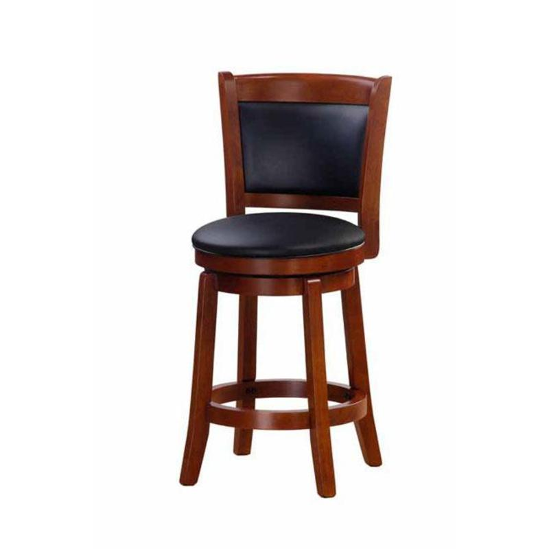 Chandler Oak Finish 24 Inch Swivel Counter Stool Design Bookmark 8139