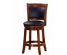 Chandler Oak Finish 24 Inch Swivel Counter Stool