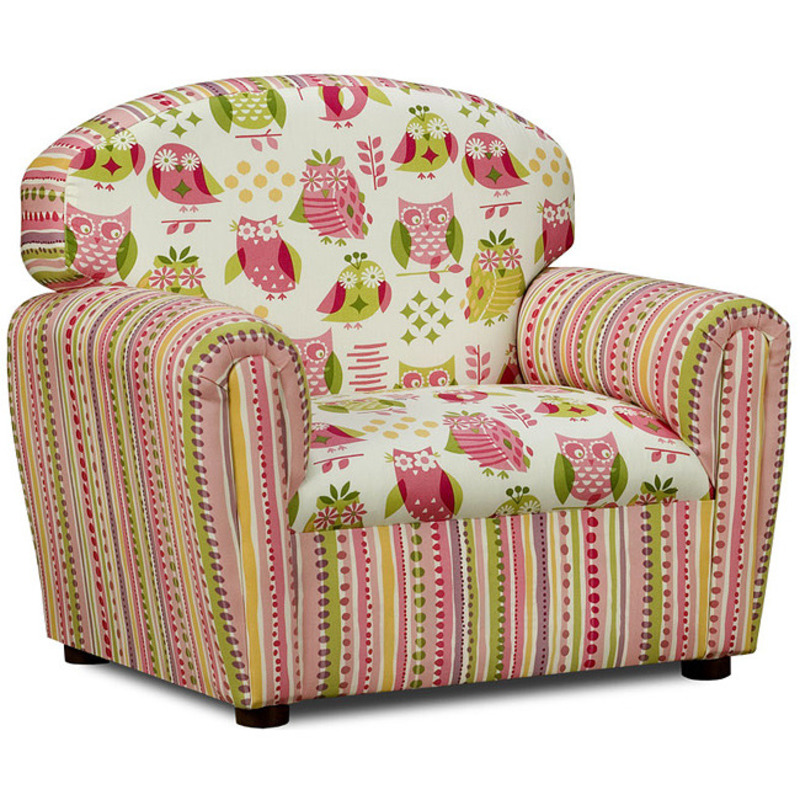 Kids Furniture Chairs, It's A Hoot Cotton Upholstered Chair
