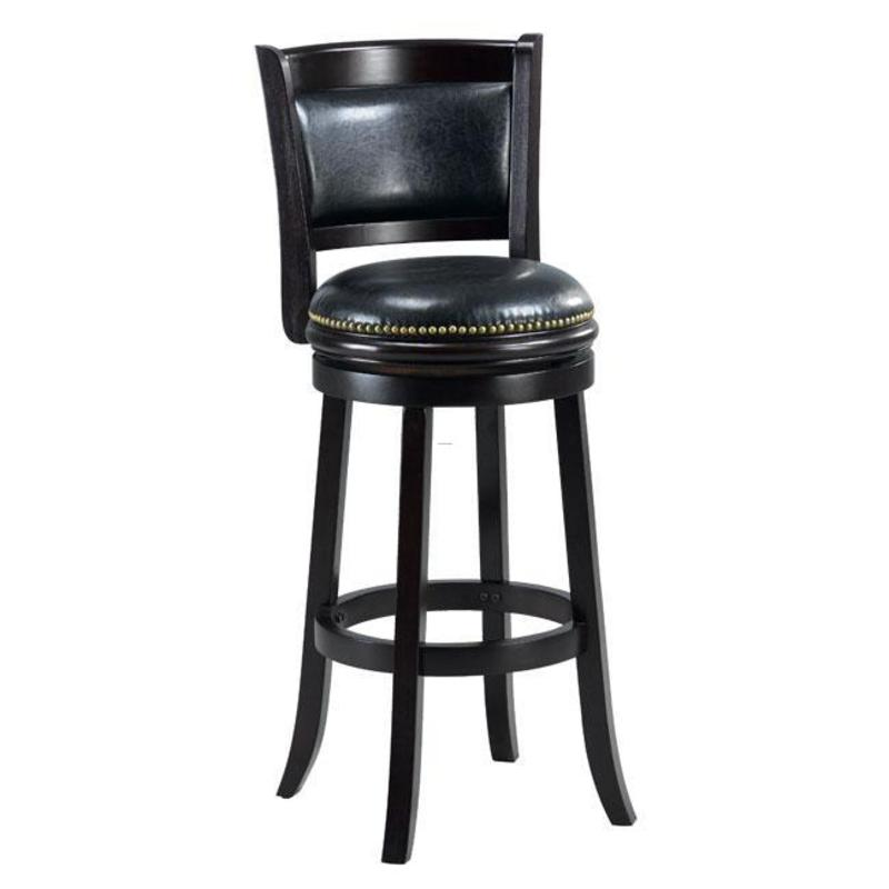 Alexis Cappuccino Padded Back 29 Inch Counter Stool