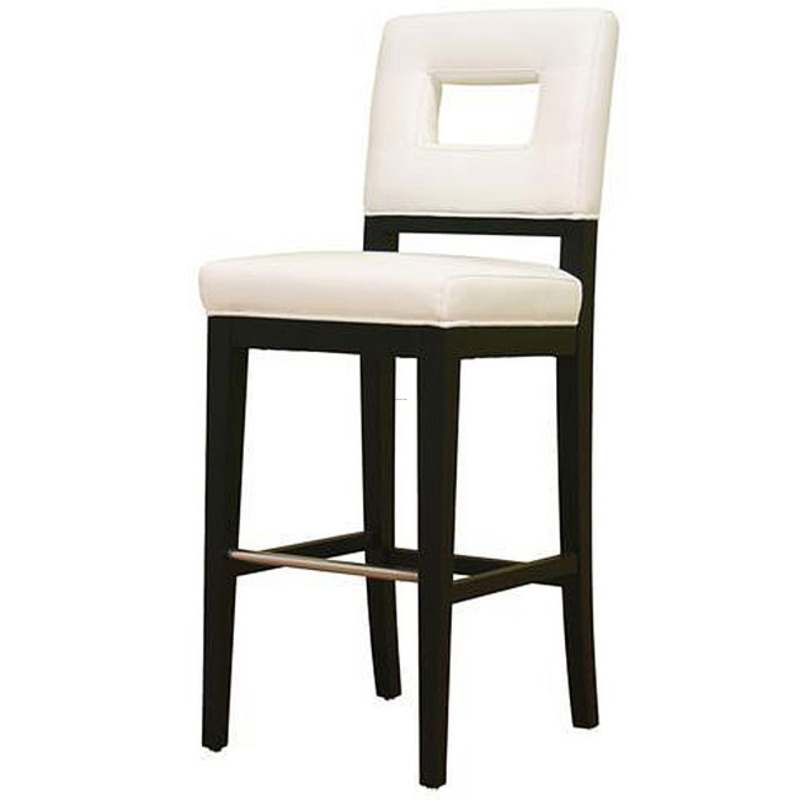 Contemporary White Leather Bar Stool Design Bookmark 8182