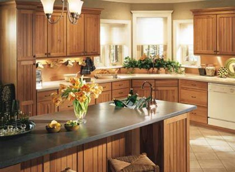 Refinishing kitchen cabinets right here refinishing for How to decorate a kitchen counter