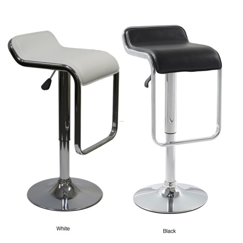 Flat Adjustable Chrome Swivel Stool Design Bookmark 8300
