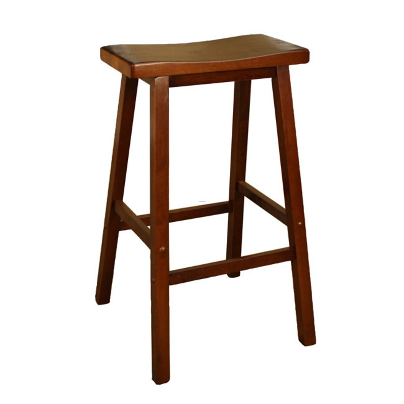 Sumatra 30 Inch Walnut Finish Saddle Stool Design