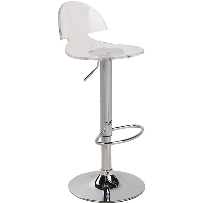 Venti Clear Acrylic Bar Stool Design Bookmark 8307