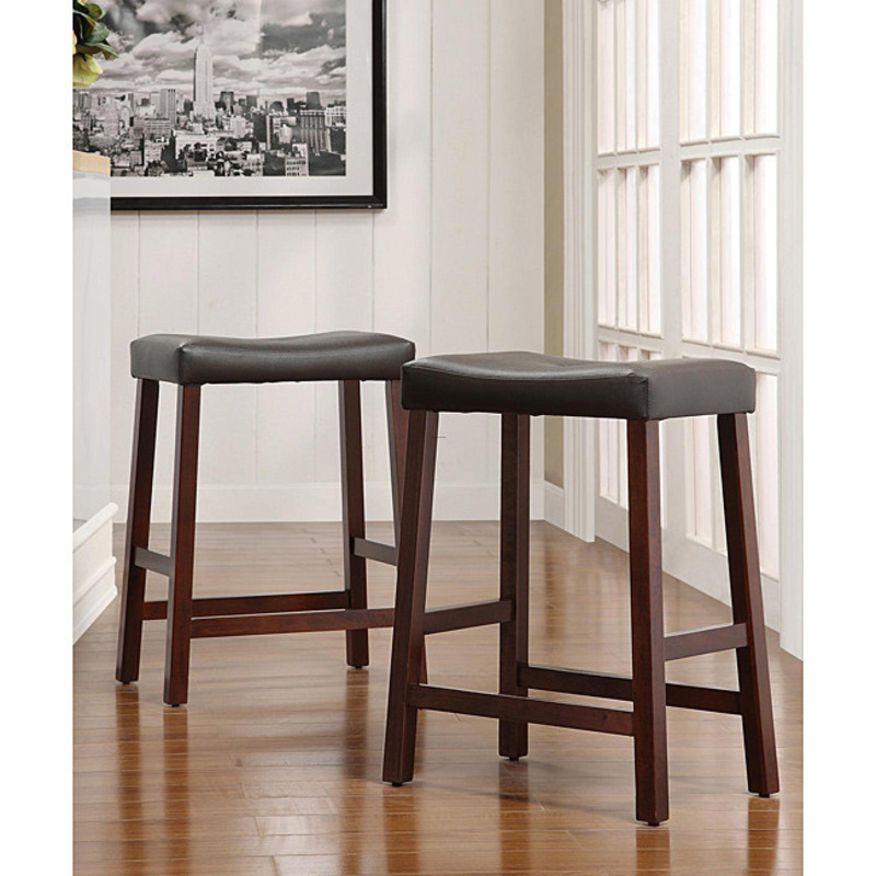 Nova Cherry Saddle Cushioned Seat 24 Inch Barstools Set Of 2 Design Bookmark 8321