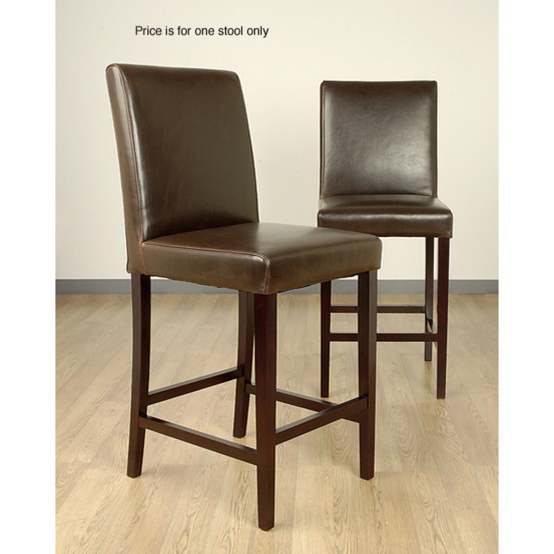 Andre Dark Brown Leather Bar Stool Design Bookmark 8327
