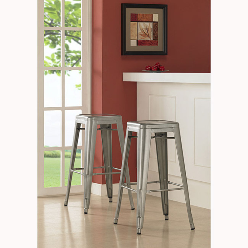 Tabouret 30 Inch Metal Barstools Set Of 2 Design Bookmark 8341