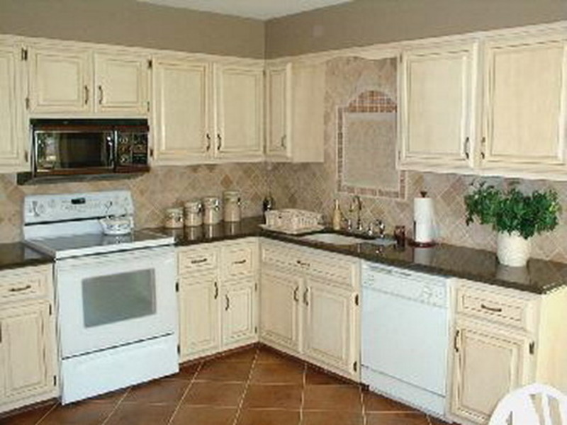 Painted Kitchen Cabinets  New House Designs