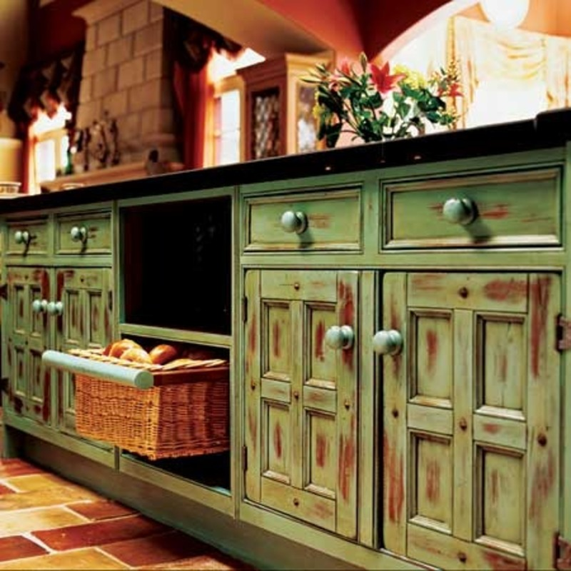 Painted Kitchen Cabinet Ideas Extraordinary Of Rustic Green Painted Kitchen Cabinets Images