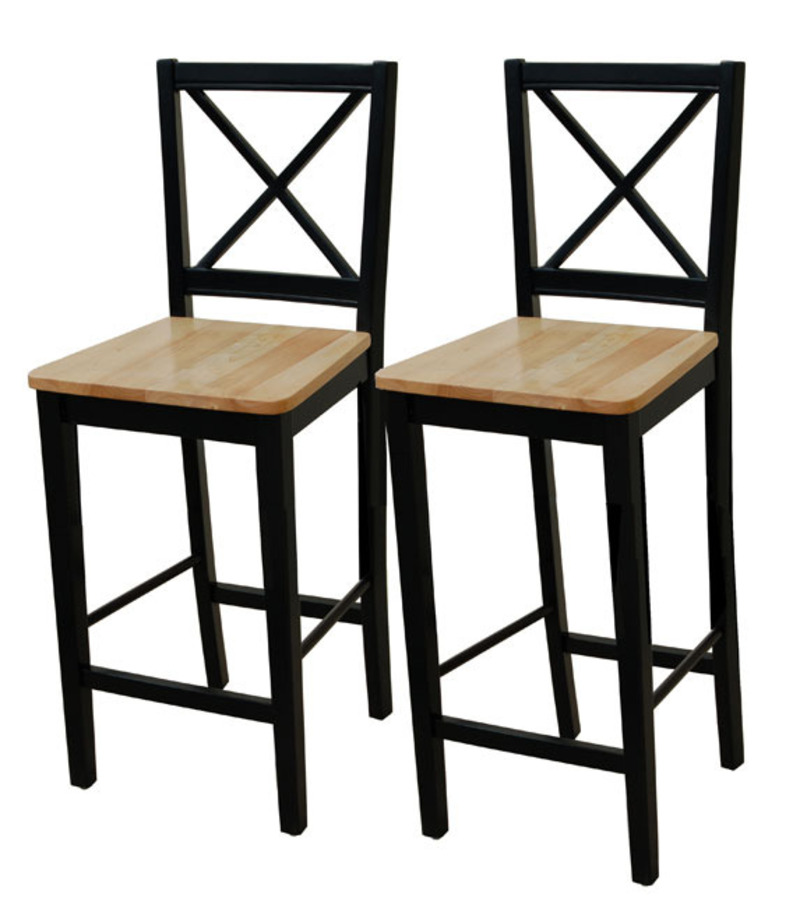 Virginia 30 Inch Cross Back Stools Set Of 2 Design