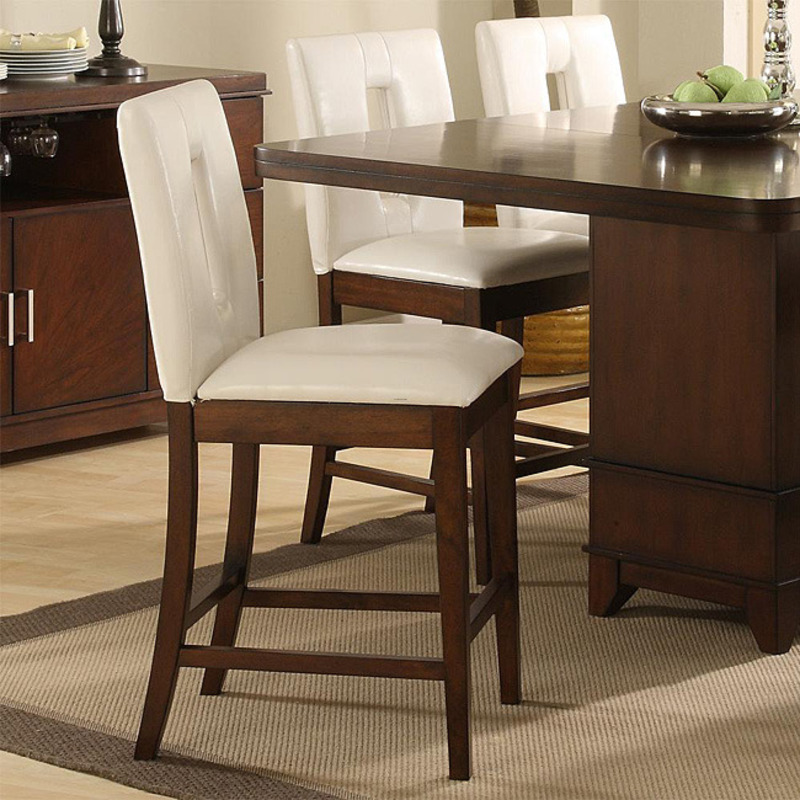 Lancaster Counter Height Chairs With Key Hole Back Set Of