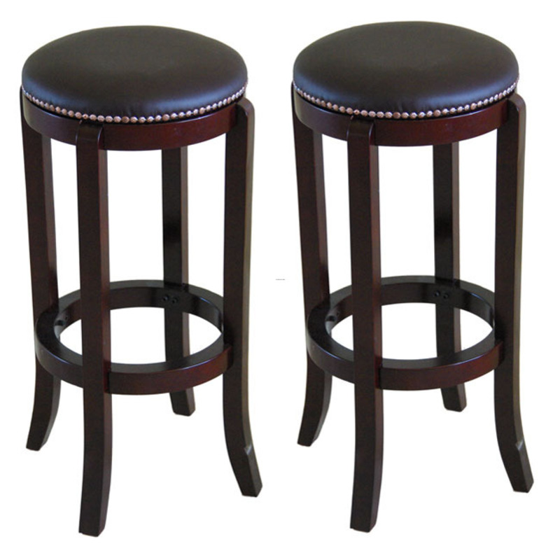 North Canyon Polished Cherry Bar Stool Set Of 2 Design