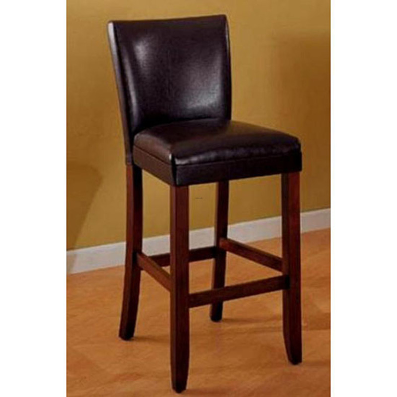 Empire Brown Bicast Leather Barstools Set Of 2 Design Bookmark 8443