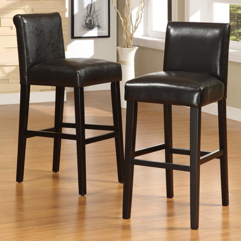 Bennett 29 Inches Brown Faux Leather Barstools Set Of 2