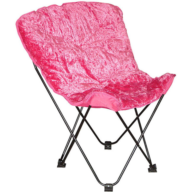 Folding Butterfly Chair With Padded Faux Fur Seat And Carry Bag design book