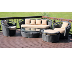 Calabasas 5 Piece All Weather Wicker Patio Set