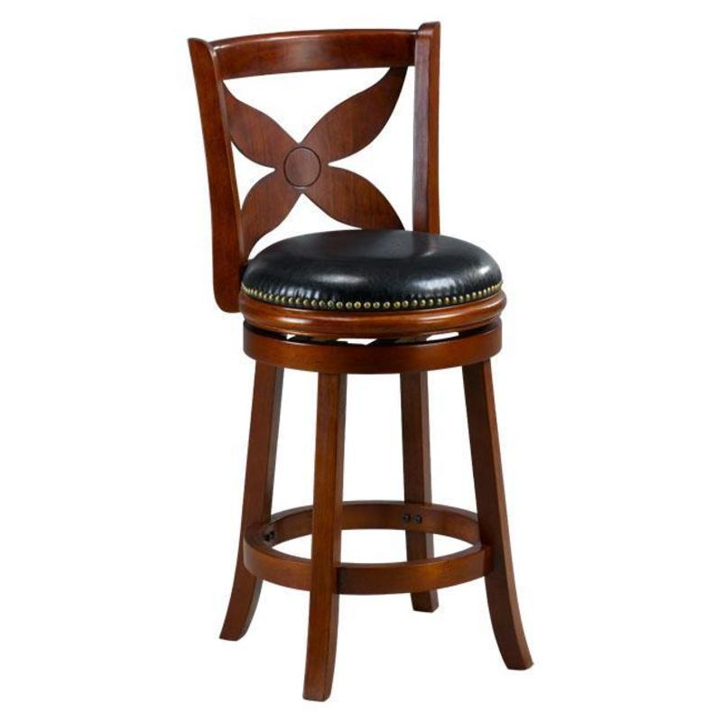 Livingston Cherry Floral Back Swivel Counter Stool Design Bookmark 8490