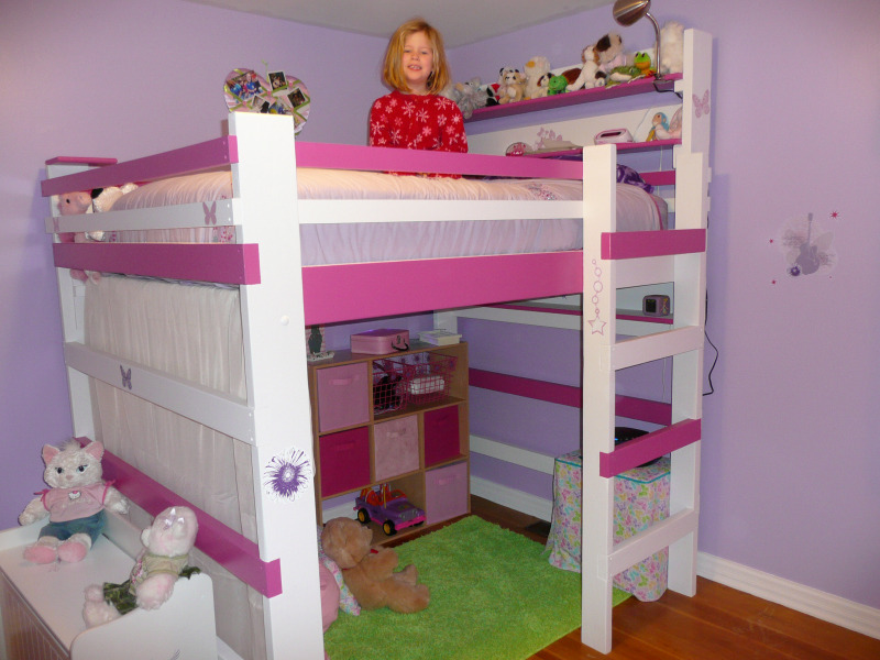 Kids Loft Bed Design Bookmark 8522