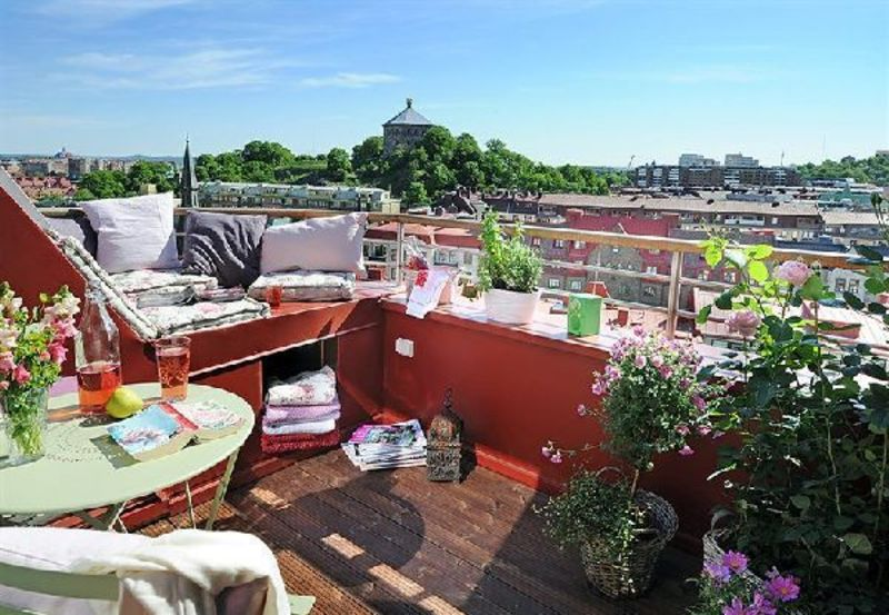 Rooftop Terrace Design Ideas, Wooden Floors 10 Square Meter Roof Terrace Design In Sweden Apartment »  Home Interior Ideas, Home Decorating, Home Furniture, Home Architecture, Room Design Ideas