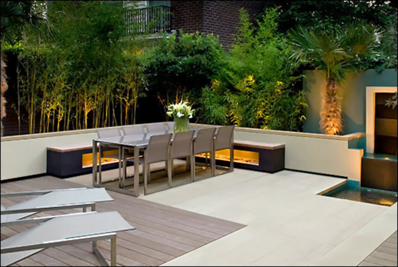 Rooftop Terrace Design Ideas, Samples Cool Surrounding Garden Terrace Design Ideas