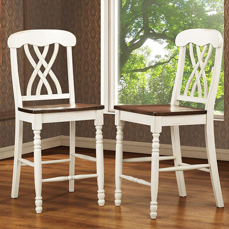 Mackenzie Antique White Counter Height Chairs Set Of 2
