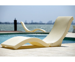 The Splash Lounger Deck Sun Cream Chaise/ Pool Floater Chair