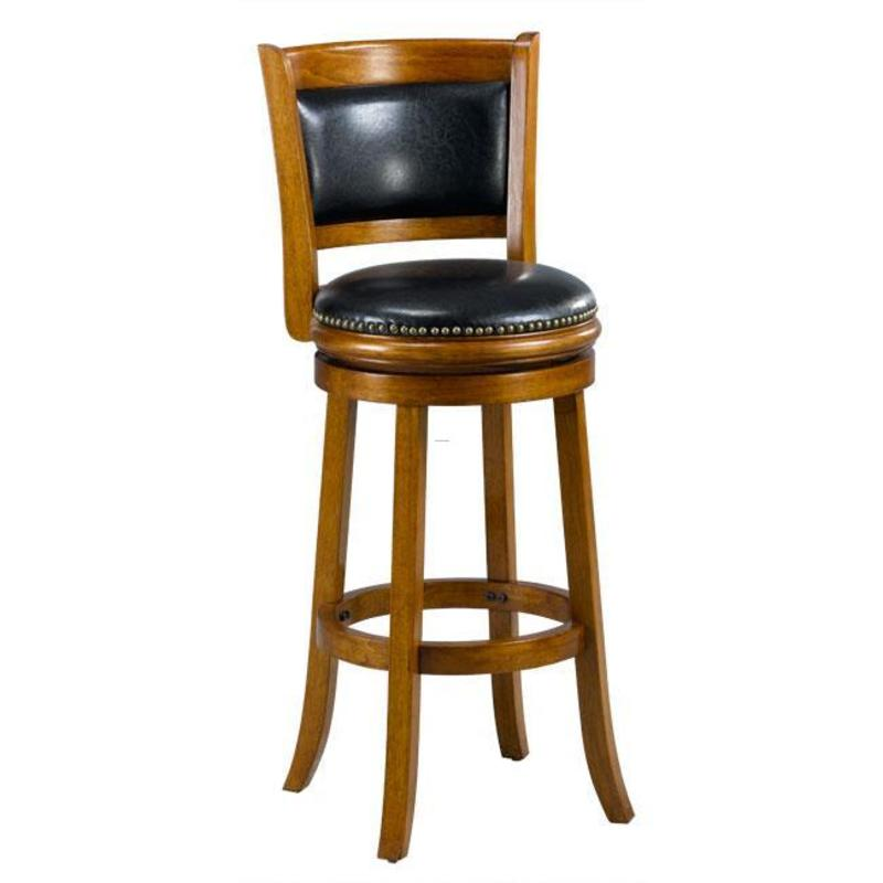Cheap Bar Stools, Alexis Dark Oak Padded Back 29 Inch Barstool
